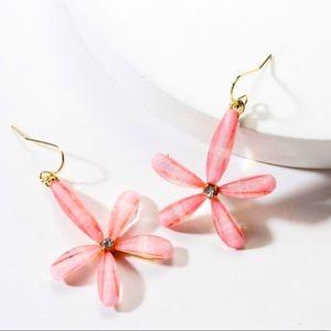 Pink Cute Flower Earrings